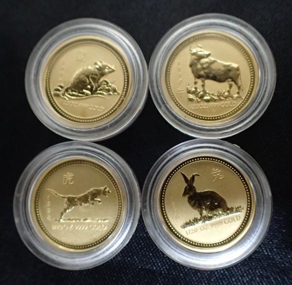 純金コイン 干支金貨 1/20オンス 11枚セット オーストラリア